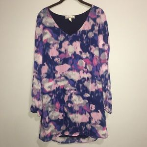 Accidentally in Love Blue Pink Purple Sleeve Dress